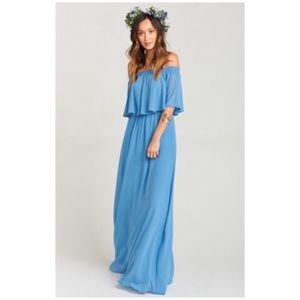 Show Me Your Mumu • hacienda maxi dress in blue